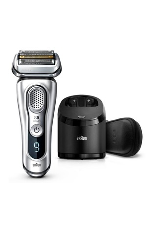 Braun Series 9 9390cc Latest Generation Electric Shaver, Clean and Charge Station, Leather Case
