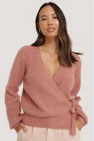 NA-KD Pink Tie Side Knit
