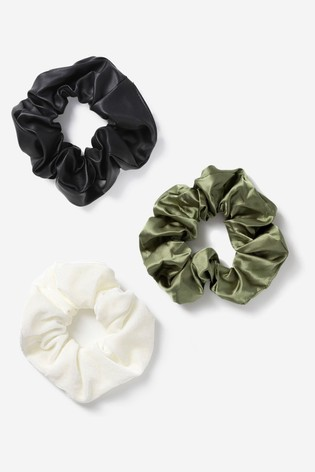 Freedom Brown Mixed Scrunchie Three Pack Multipack