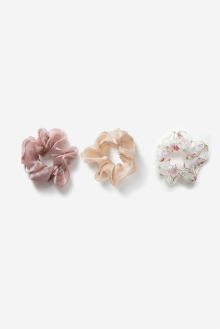 Freedom Pink Mixed Scrunchie Three Pack Multipack