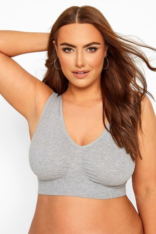 Yours Grey Curve Seamless Non-Padded Bra
