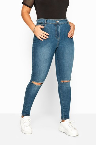 Yours Vintage Ripped Knee Skinny AVA Jeans