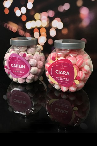 Personalised Prosecco Flavour Sweet Jar Set by Great Gifts