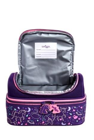 Smiggle Purple Pop Double Decker Lunchbox
