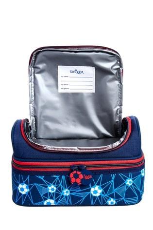 Smiggle Navy Pop Double Decker Lunchbox