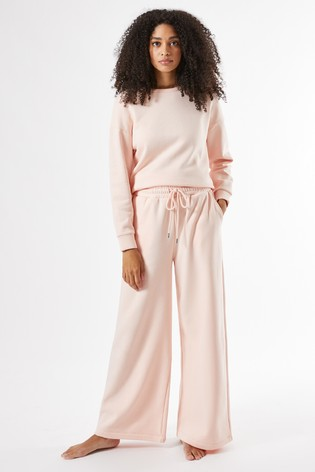 Dorothy Perkins Blush Wide Leg Sweat Trousers