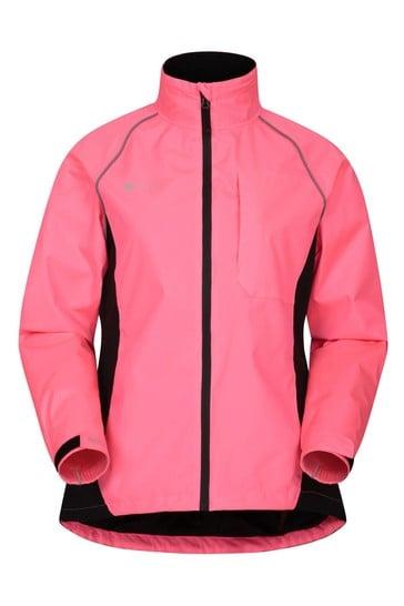 Mountain Warehouse Pink Adrenaline Womens Waterproof Iso-Viz Jacket