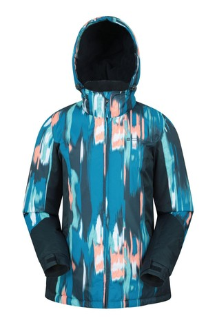 Mountain Warehouse Blue Dawn Womens Printed Ski Jacket