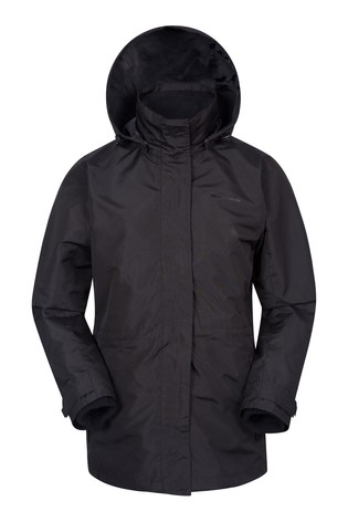 Mountain Warehouse Black Fell Womens 3 In 1 Water-Resistant Jacket