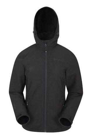 Mountain Warehouse Black Exodus Womens Softshell Jacket