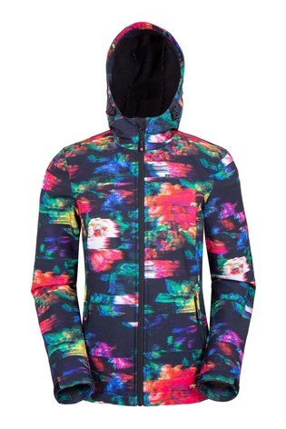 Mountain Warehouse Floral Exodus Womens Softshell Jacket