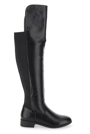 Simply Be Black Wide Foot Studded Boots