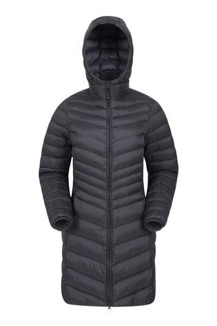 Mountain Warehouse Black Florence Womens Long Padded Jacket