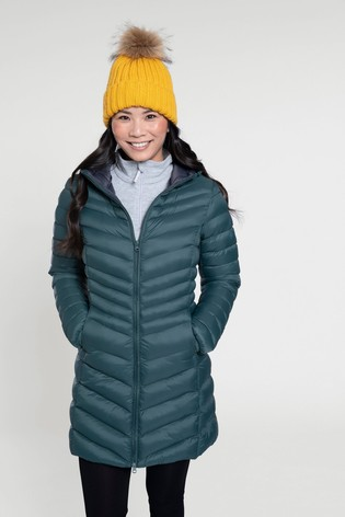 Mountain Warehouse Green Florence Womens Long Padded Jacket