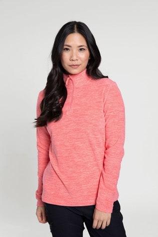 Mountain Warehouse Orange Snowdon Melange Womens Fleece