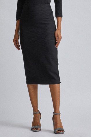 Dorothy Perkins Petite Textured Pencil Skirt