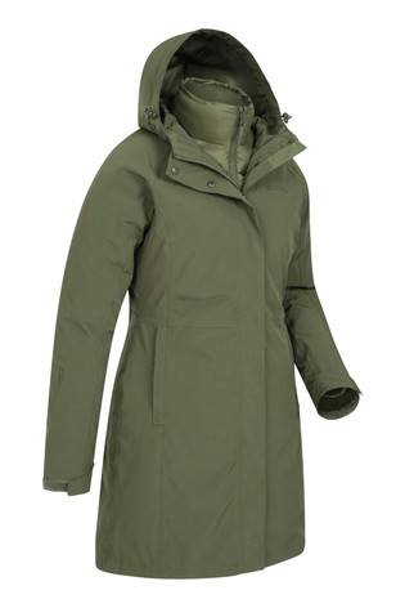 Mountain Warehouse Khaki Alaskan Womens 3 In 1 Long Jacket