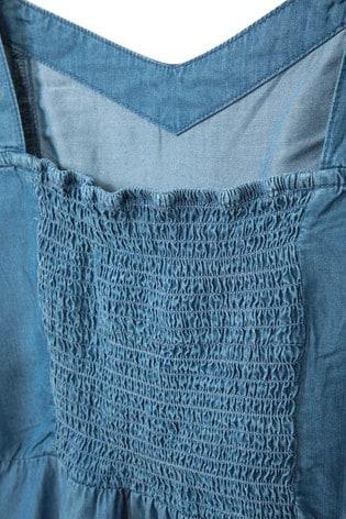Mountain Warehouse Blue Summer Time Chambray Womens Dress