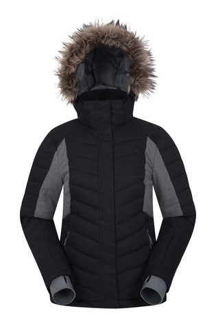 Mountain Warehouse Black Powder Women Padded Ski Jacket