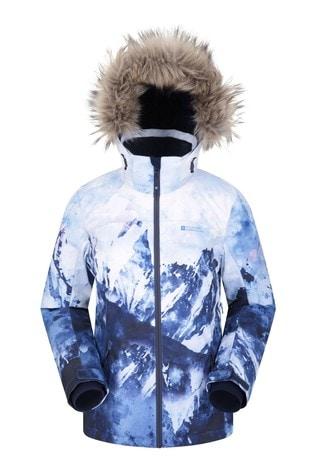 Mountain Warehouse Blue Nordic Extreme Printed Womens Ski Jacket