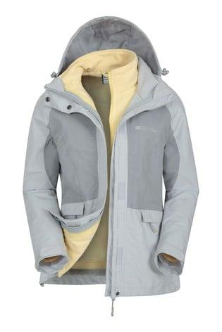 Mountain Warehouse Grey Thunderstorm 3-In-1 Womens Jacket
