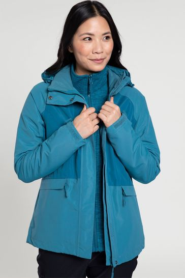 Mountain Warehouse Blue Thunderstorm 3-In-1 Womens Jacket