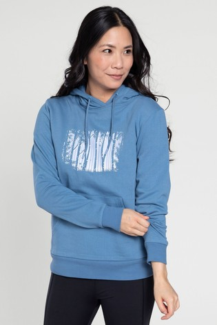 Mountain Warehouse Blue Forest Tree Printed Womens Hoodie