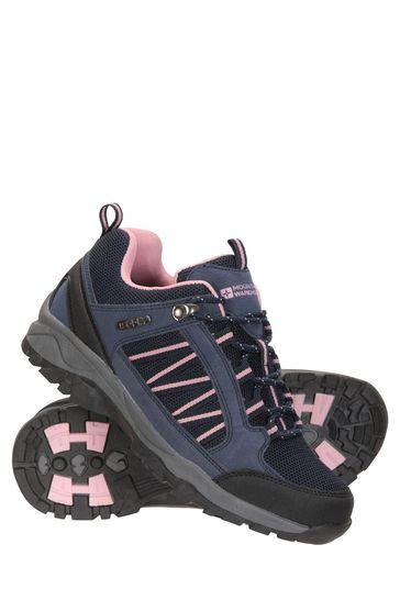 Mountain Warehouse Navy Path Waterproof Womens Walking Shoes