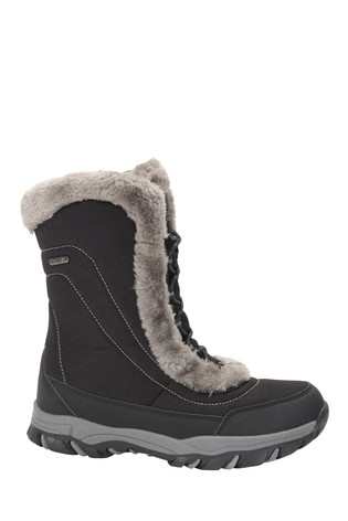 Mountain Warehouse Black Ohio Womens Snow Boots