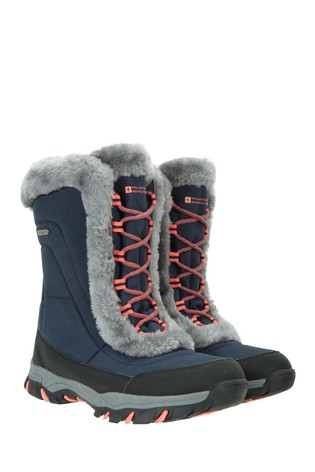 Mountain Warehouse Navy Ohio Womens Snow Boots