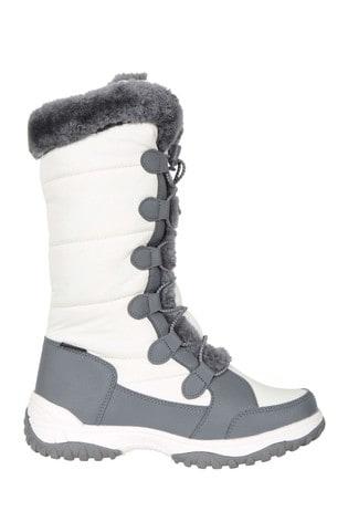 Mountain Warehouse White Snowflake Womens Long Snow Boots