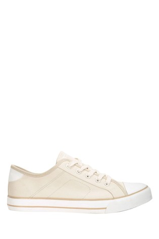 Mountain Warehouse Cream Womens Canvas Plimsoll Trainers