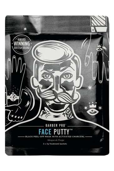 BARBER PRO Face Putty Peel Off Mask 3 Pack
