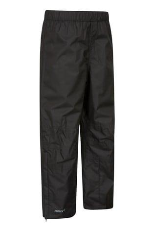 Mountain Warehouse Black Spray Kids Waterproof Trousers