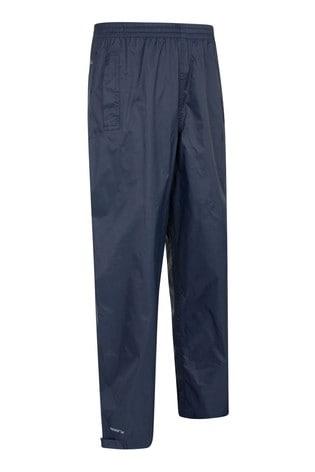 Mountain Warehouse Navy Spray Kids Waterproof Trousers