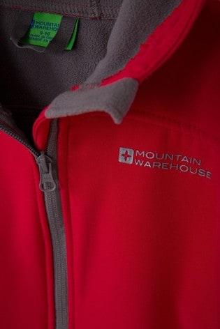 Mountain Warehouse Red Mountain Warehouse Exodus Kids Water Resistant Softshell