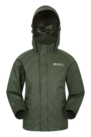 Mountain Warehouse Khaki Pakka Kids Waterproof Jacket