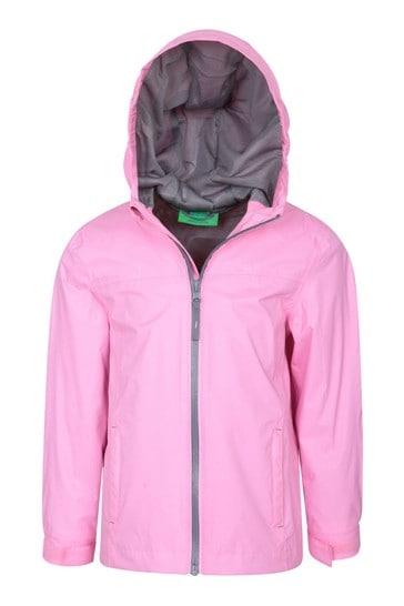 Mountain Warehouse Pink Print Torrent Kids Waterproof Jacket