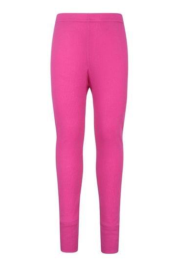 Mountain Warehouse Pink Talus Kids Base Layer Thermal Pants