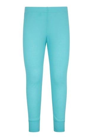 Mountain Warehouse Blue Talus Kids Base Layer Thermal Pants