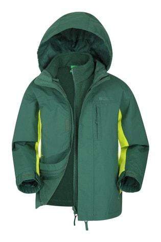 Mountain Warehouse Khaki Cannonball 3 In 1 Kids Waterproof Jacket