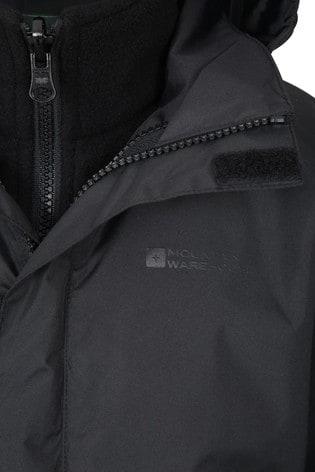 Mountain Warehouse Black Fell Kids 3 In 1 Water Resistant Jacket