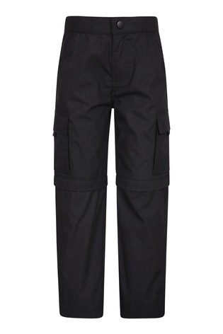 Mountain Warehouse Black Mountain Warehouse Active Kids Convertible Trousers