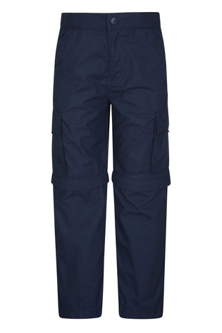 Mountain Warehouse Navy Mountain Warehouse Active Kids Convertible Trousers