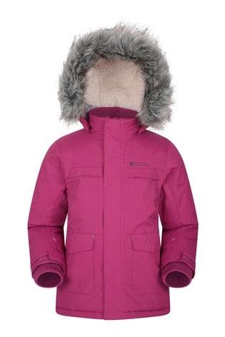 Mountain Warehouse Bright Pink Samuel Kids Water-Resistant Parka Jacket