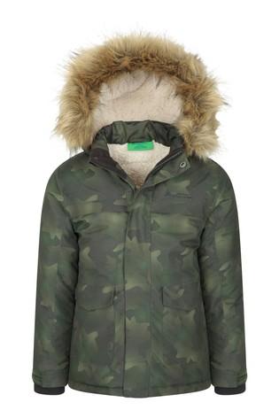 Mountain Warehouse Green Samuel Kids Water-Resistant Parka Jacket
