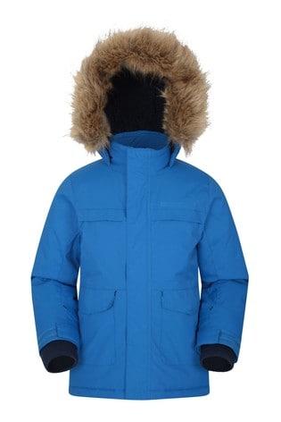 Mountain Warehouse Cobalt Samuel Kids Water-Resistant Parka Jacket