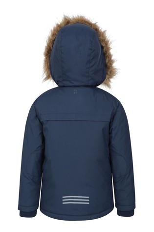 Mountain Warehouse Navy Samuel Kids Water-Resistant Parka Jacket