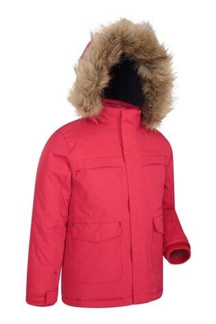 Mountain Warehouse Red Samuel Kids Water-Resistant Parka Jacket