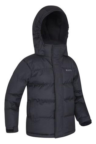Mountain Warehouse Black Snow Kids Water-Resistant Padded Jacket